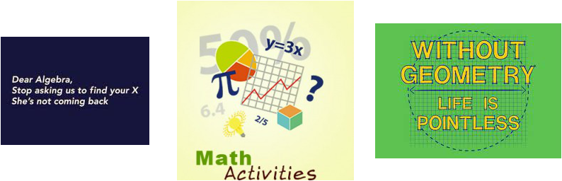 Interactive web sites for 7th grade math class: